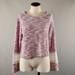 REBECCA TAYLOR Cropped Crochet Sweater